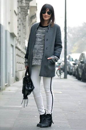knit sweater Topshop sweater - pistol boots acne boots