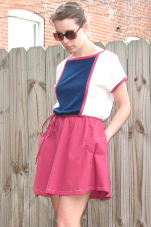 Vintage 80s Colorblocked Dress