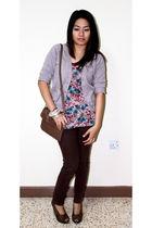 Zara cardigan - Stradivarius shirt - Topshop bracelet - Online Shop pants - Mang