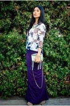 yellow katherine Kwei purse - deep purple Lovers  Friends skirt