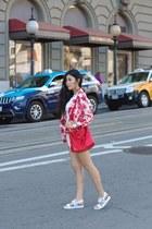 floral print Oasis jacket - Ora Delphine bag - floral print Oasis shorts