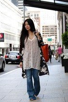 lace sabo skirt dress - flared Yoox jeans - Vince Camuto bag
