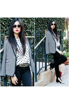 black AND Jeans jeans - white speigel blazer - white Joe Fresh shirt