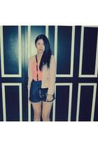 Zara blazer - Celine bag - Twelfth Street shorts