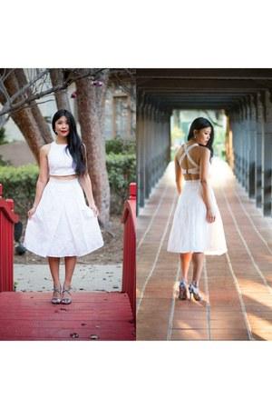 two-piece Lulus dress - Steve Madden heels