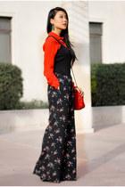 black floral American Rag jumper - red Koret bag - red Parker blouse