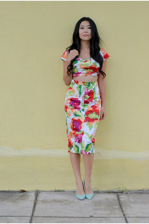 Stop Staring top - Stop Staring skirt - Shoedazzle heels