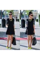black Ever Ivy dress - Yves Saint Laurent purse - black Tom Ford sunglasses