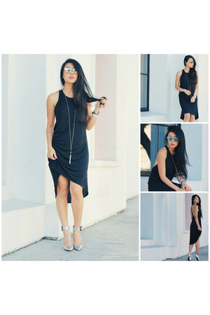 black Liberty Sage dress - Chilli Beans sunglasses - silver Qupid heels
