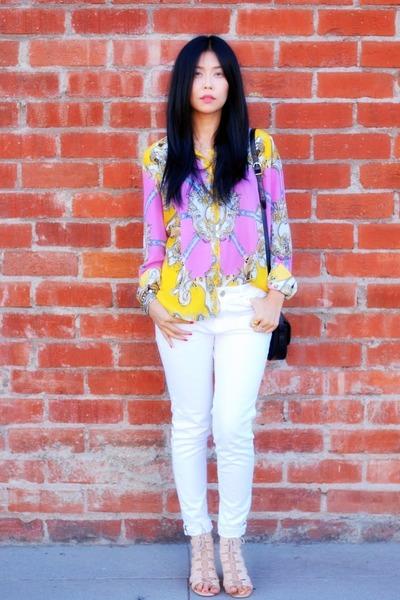 Zara jeans - Celine purse - Theory sandals - Sunny Girl blouse