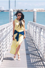 Light-yellow-feminine-lily-black-dress-black-chloe-sunglasses