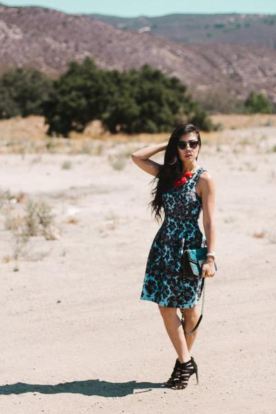 Guess watch - cynthia rowley dress - Treesje bag - Sole Society sunglasses