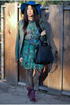 crimson tsubo boots - forest green Hale Bob dress