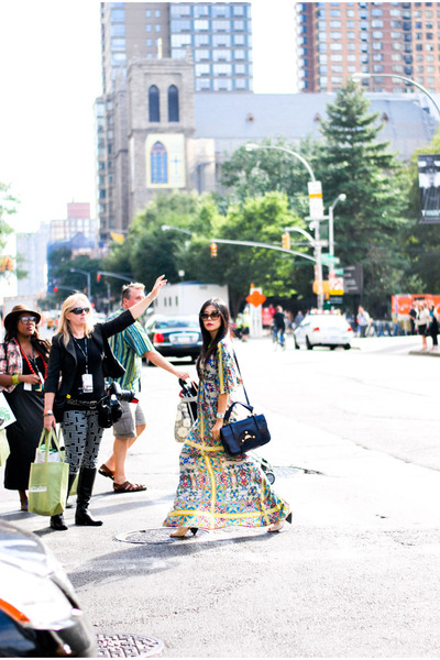 CC Skye ring - Cynthia Vincent dress - navy Fendi bag - Dita Eyewear sunglasses