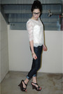 White-forever-21-blouse-blue-jcrew-jeans-black-charlotte-russe-shoes-gold-