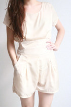 cream GoodNight Macaroon romper