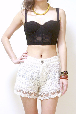 cream GoodNight Macaroon shorts