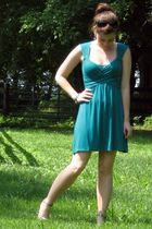 green Pins & Needles dress - gold Madden Girl via Ebay shoes