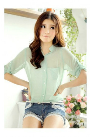 long sleeve Bella shirt - fashion jeasn Anvil shorts
