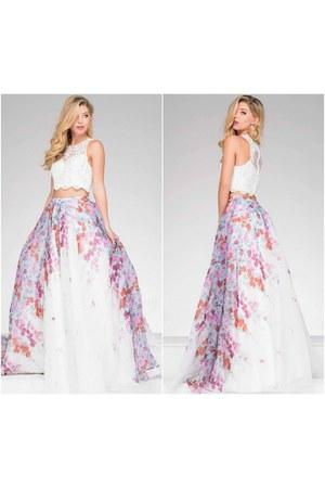 two piece dress Jovani dress