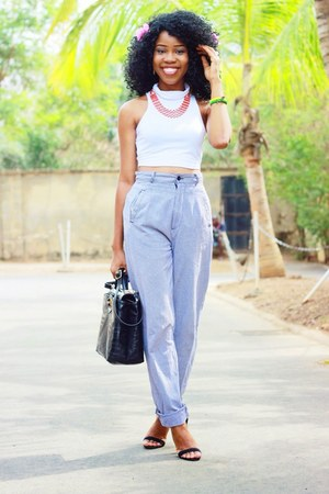 asos shoes - Choies top - thrifted vintage pants