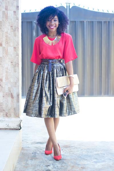 twentysixco skirt - bellamoda top - Atmosphere pumps