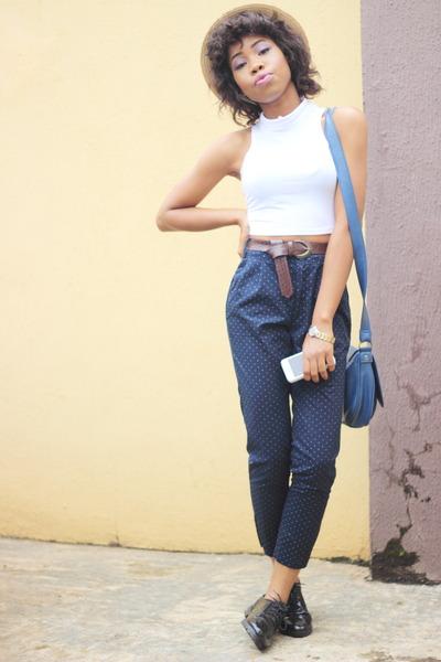 Atmosphere bag - Zara pants - Choies top - schuch loafers