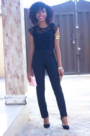 Topshop top - Louis Vuitton pants - material girl pumps
