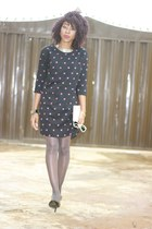 Primark dress - Chanel scarf - qupidshoes pumps