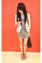 Topshop dress - Forever 21 blazer - Charles & Keith heels