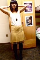 white Goodwill blouse - yellow Rodarte skirt - gold Forever 21 accessories - gol