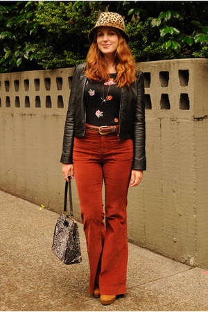 brick red corduroy Anthropologie pants