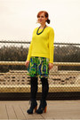 Lime-green-hat-navy-steve-madden-boots-yellow-gap-sweater