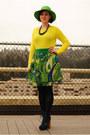 Navy-steve-madden-boots-lime-green-hat-yellow-gap-sweater