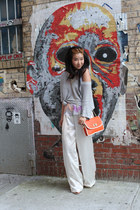 silver Loft sweater - carrot orange Forever 21 bag