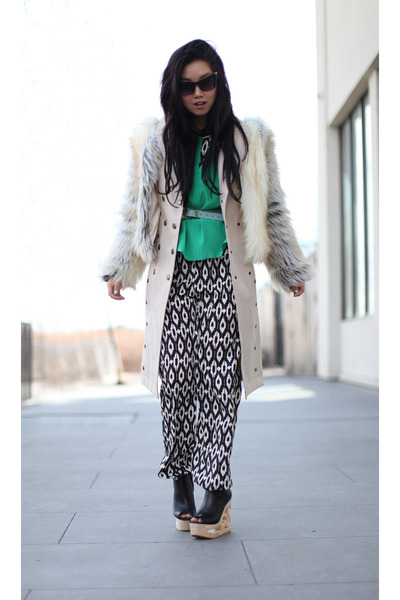 beige fur Style Nanda coat - beige trench Burberry Prorsum coat