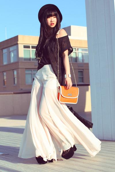 Forever21 shirt - H&M hat - Forever21 bag - Sugarlips pants