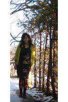 green New York & Company cardigan - green New York & Company blouse - gray The L