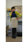 Beige-express-skirt-gray-hue-tights-black-target-shoes-blue-the-limited-bl