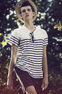 Tan-h-m-hat-dark-gray-h-m-shorts-white-striped-h-m-t-shirt-black-c-a-glass