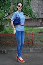 Blue-no-brand-t-shirt-blue-genetic-denim-jeans-red-vicini-shoes-red-dune-b