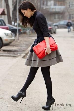 navy acne skirt