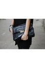 Black-eugenia-kim-hat-black-anya-hindmarch-purse-silver-h-m-bracelet-silve