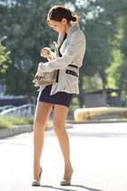 off white blazer - navy lanston dress