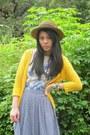 Babo-skirt-cardigan-socks-yrys-hat-t-shirt
