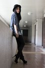Black-charles-keith-boots-black-bowler-forever-21-hat-navy-striped-from-hk