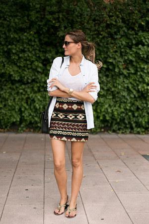 Zara skirt - Zara shirt - cambridge satchel bag