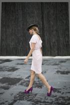 BohoChic hat - mascaró shoes - Lapavana brand dress
