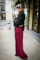 Zara skirt - Burberry jacket - hakei bag - Tom Ford sunglasses