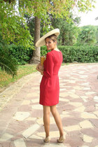 BohoChic hat - Jimmy Choo shoes - Massimo Dutti dress - Teria Yabar bag